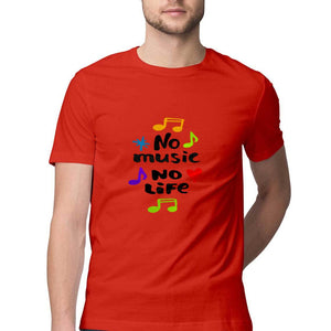 NQ 15066 | Men's | Graphic Design Tshirt | NO MUSIC NO LIFE |