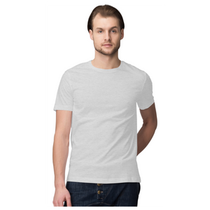 Grey Half Sleeve plain t-shhirt
