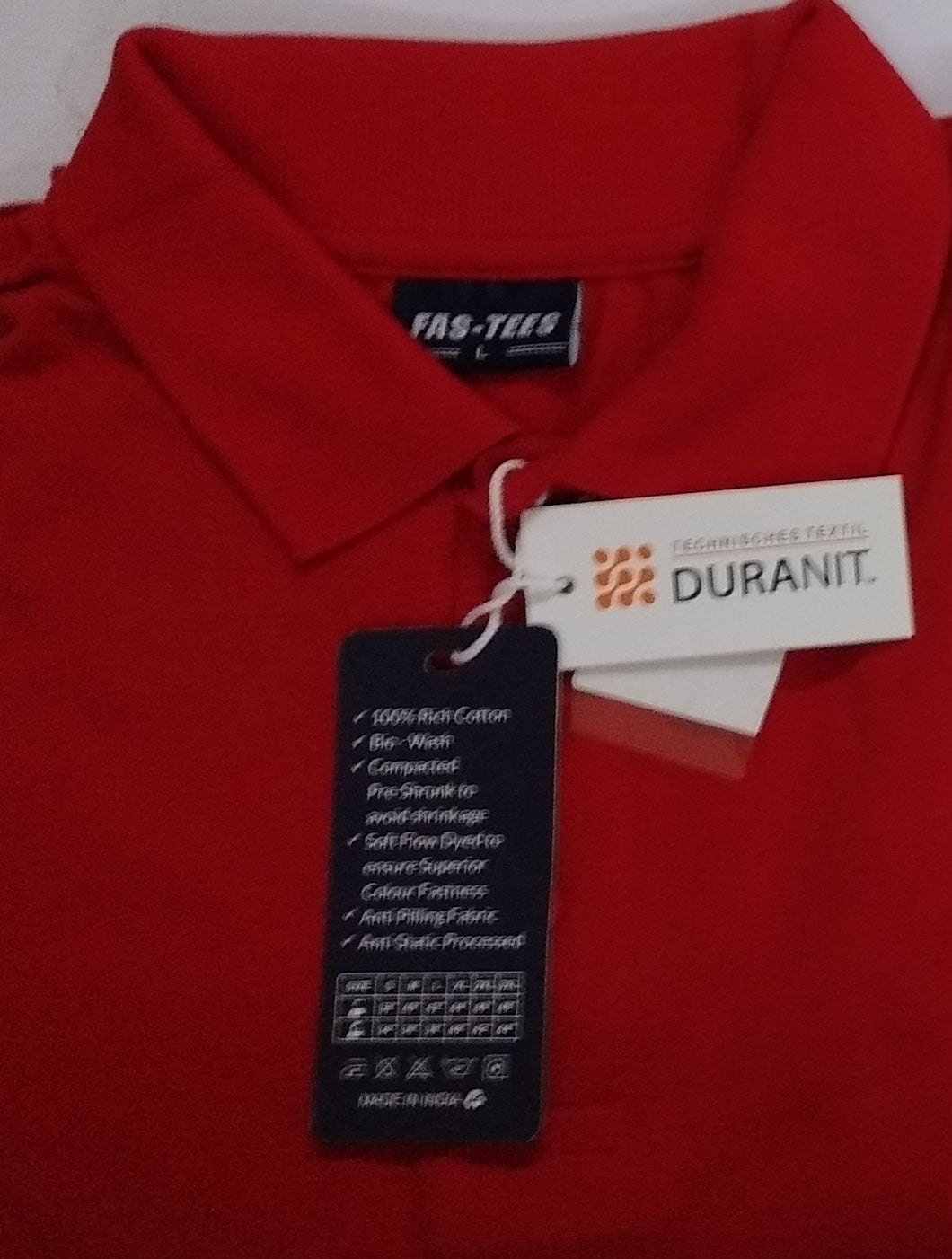 Plain Polo T Shirt Red