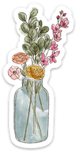 Load image into Gallery viewer, Watercolor Vase Bouquet Sticker, 3.5x2 in.