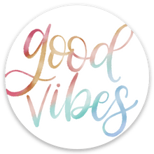 Load image into Gallery viewer, Good Vibes Sticker, 2x2 in.
