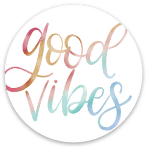 Good Vibes Sticker, 2x2 in.