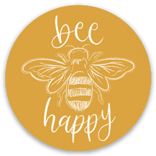 Load image into Gallery viewer, Bee Happy Sticker, 2x2in.