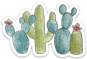 Cactus Club Sticker, 3.5x3 in.