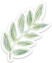 Load image into Gallery viewer, Watercolor Green Leaves Sticker 3x2 in.
