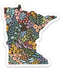 Load image into Gallery viewer, Minnesota Floral State Sticker, 3x3 in.