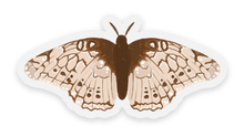 Load image into Gallery viewer, Beige Speckled Moth Sticker, 2x2in.