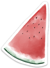 Load image into Gallery viewer, Watermelon Slice Sticker 3.5x3 in.