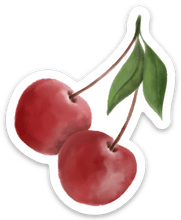 Load image into Gallery viewer, Cherry Sticker, 2.5x2.5in.
