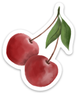 Cherry Sticker, 2.5x2.5in.