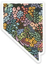 Load image into Gallery viewer, Nevada Floral State Sticker 3x3 in.