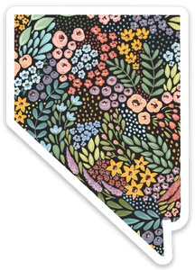 Nevada Floral State Sticker 3x3 in.