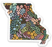 Load image into Gallery viewer, Missouri Floral State Sticker, 3x3 in.