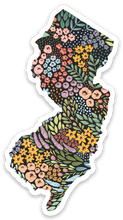 Load image into Gallery viewer, New Jersey Floral State Sticker, 3x2 in.