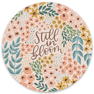 Still in Bloom Sticker, 3x3 in.