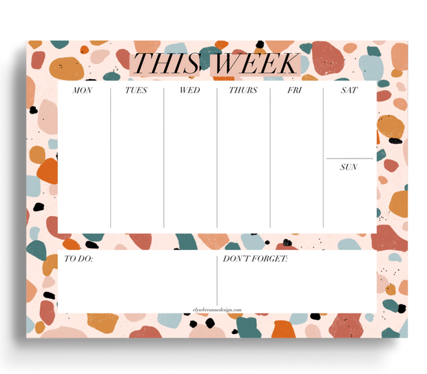 Terrazzo Weekly Planner Notepad, 8.5x11 in. 1