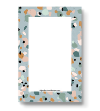 Load image into Gallery viewer, Light Blue Terrazzo Notepad, 4x6 in.