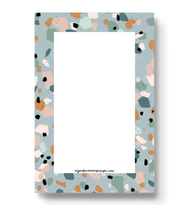 Light Blue Terrazzo Notepad, 4x6 in.