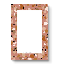 Load image into Gallery viewer, Pale Red Terrazzo Notepad, 4x6 in.
