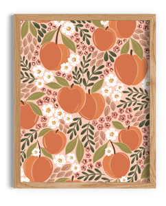 All Over Peaches Art Print