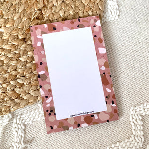 Pale Red Terrazzo Notepad, 4x6 in.