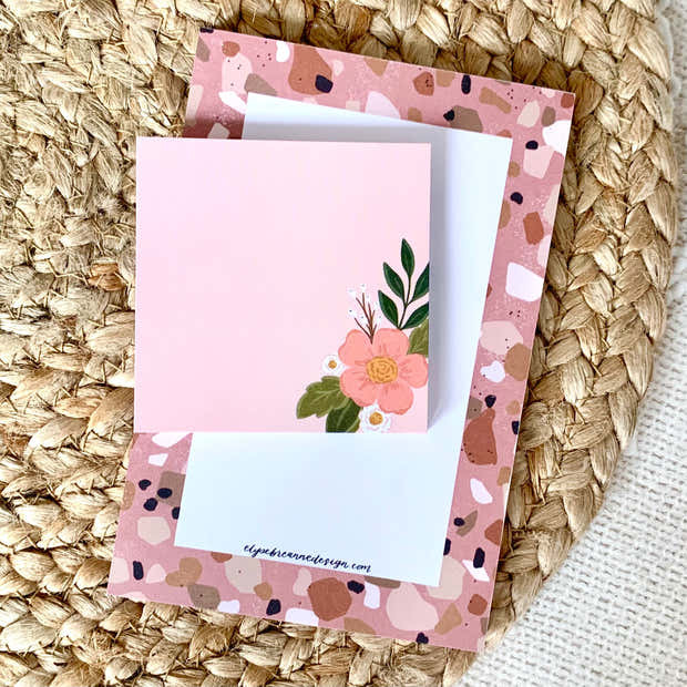 Pink Floral Sticky Notes, Pack of 2, 3x3 in. 1