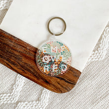 Load image into Gallery viewer, Empowered Floral Keychain 2.5x2.5in.