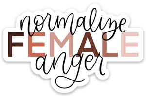 Normalize Female Anger Sticker, 3x3 in.