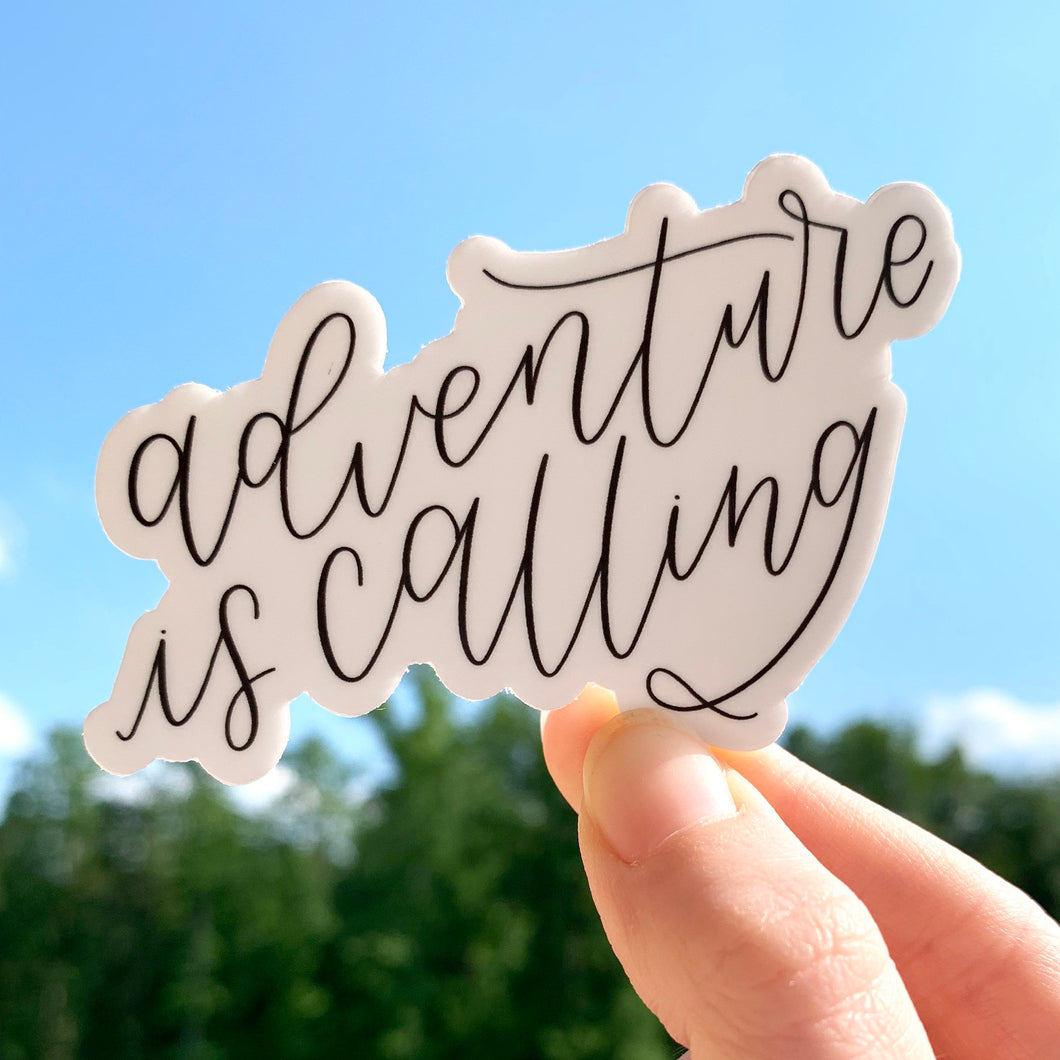 Adventure is Calling Sticker, 3x2.5in.