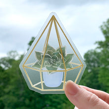 Load image into Gallery viewer, Succulent Glass Terrarium Sticker, 3x3 in.