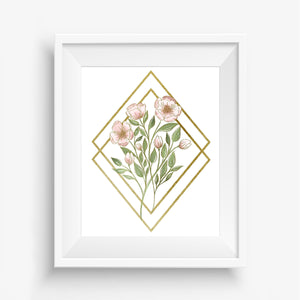Wildflower Bouquet Diamond Art Print Reproduction