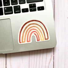 Load image into Gallery viewer, Boho Rainbow Sticker, 3x3 in.