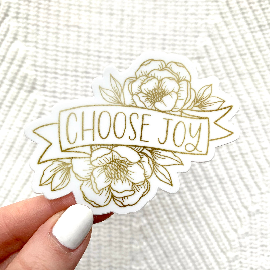 Choose Joy Sticker, 3x2.5in.