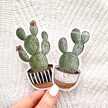 Load image into Gallery viewer, Speckled Planter Cactus Sticker, 4x2 in.
