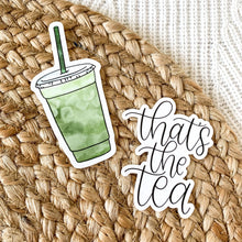 Load image into Gallery viewer, Iced Matcha Green Tea Latte Sticker, 4x2 in.