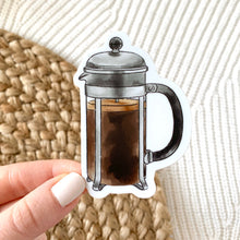 Load image into Gallery viewer, French Press Sticker, 3x3 in.