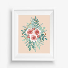 Load image into Gallery viewer, Hand Painted Rose Gold Diamond Art Print