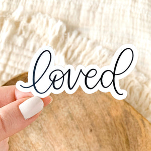 Loved Sticker, 3x2in.