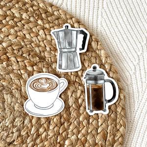 French Press Sticker, 3x3 in.