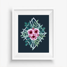 Load image into Gallery viewer, Hand Painted Pink Roses Art Print