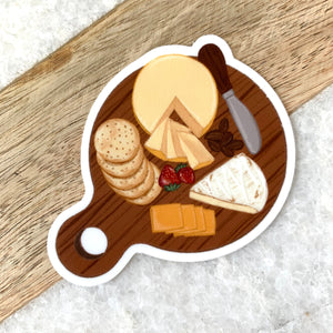 Cheese Board Sticker, 3x3in.