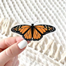 Load image into Gallery viewer, Clear Monarch Butterfly Sticker, 3x2 in.