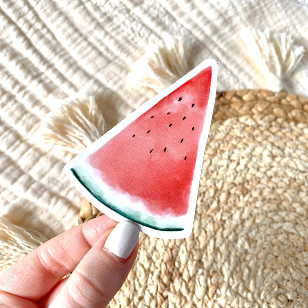 Watermelon Slice Sticker 3.5x3 in.