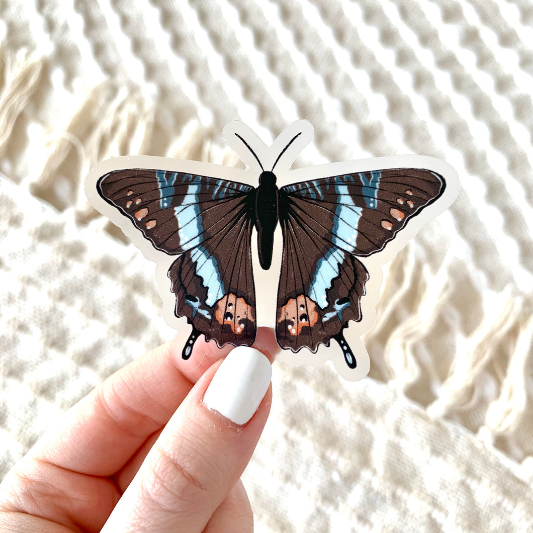 Brown Swallowtail Butterfly Sticker, 3x3in.