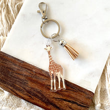 Load image into Gallery viewer, Giraffe Keychain, 2.5x1.5 in.