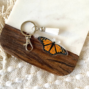 Monarch Butterfly Keychain 2.5x1in.