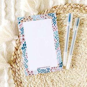 Floral Notepad, 4x6 in., 50 sheets