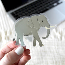 Load image into Gallery viewer, Clear Elephant Sticker, 3x3 in.