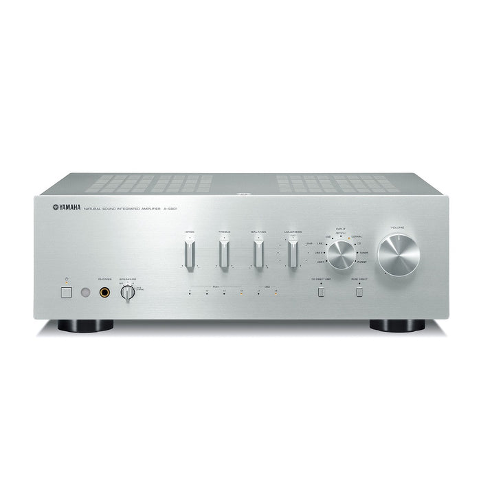 Yamaha A-S801S/2 ch integrated amplifier/silver/front view/SONXPLUS BAX audio video