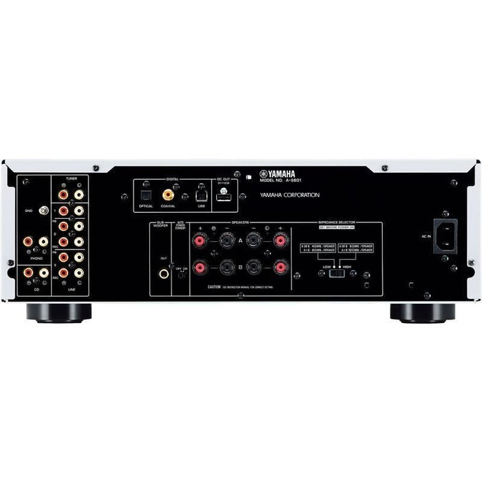 Yamaha A-S801S/2 ch integrated amplifier/silver/back view/SONXPLUS BAX audio video